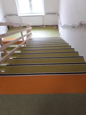 Marmoleum na schodišti Ostrava a Olomouc
